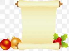 Christmas - Paper Scroll New Year Christmas Clip Art PNG