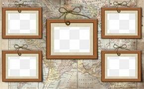 Map Frame - Picture Frame Wood Digital Photo Frame PNG
