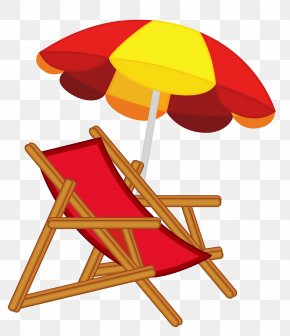 Beach Umbrella With Chair Image - Eames Lounge Chair Beach Clip Art PNG