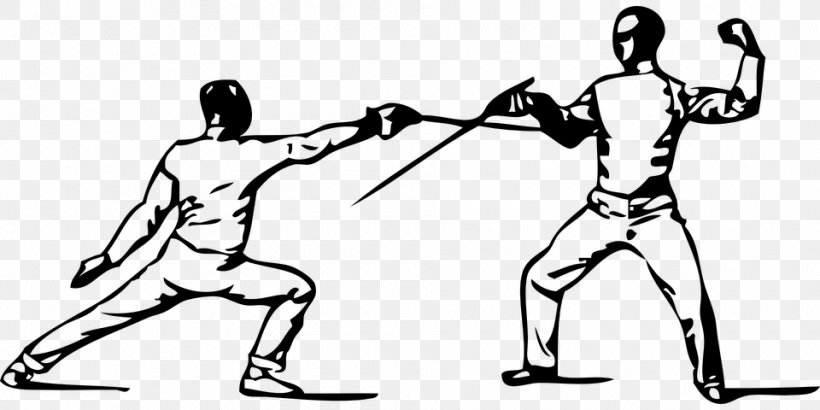 Olympic Sports Fencing Pictogram Clip Art at Clker.com - vector clip art  online, royalty free & public domain