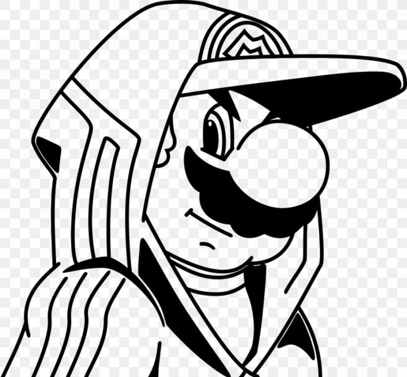 Super Mario Bros. Coloring Book Drawing Gangster, PNG ...