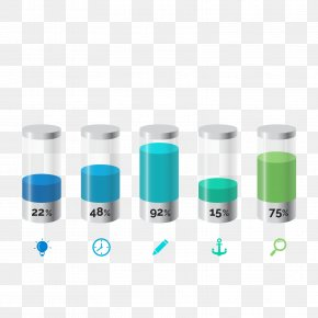 Vector Power Scale - Cylinder Bar Chart Diagram PNG