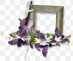 Border Flower Frame - Flower Picture Frame Clip Art PNG