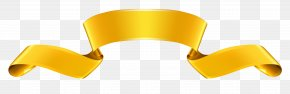 Gold Banner Clipart - Product Yellow Angle Font PNG