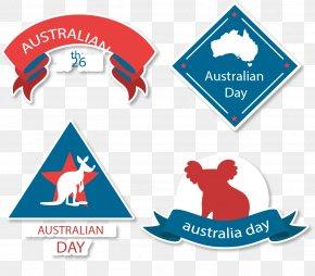 Australia Posters Ribbons - Australia Koala Kangaroo Macropodidae Icon PNG