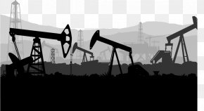 Large Oil Machinery - Oil Field Petroleum Industry Extraction Of Petroleum Illustration PNG