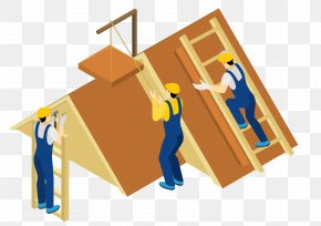 House Decoration Workers - Construction Worker Laborer Illustration PNG