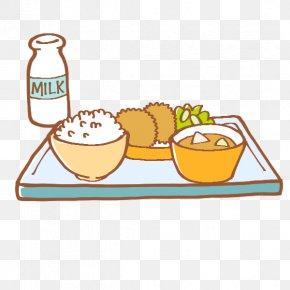 School - School Meal Cuisine Illustration 給食当番 PNG