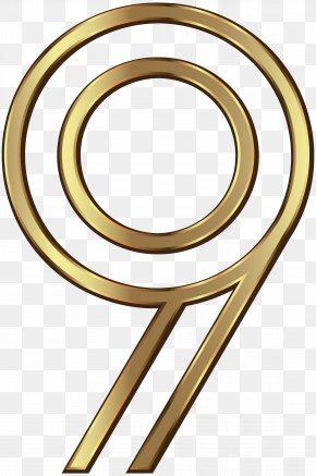 Number Nine Golden Clip Art Image - Design Clip Art PNG