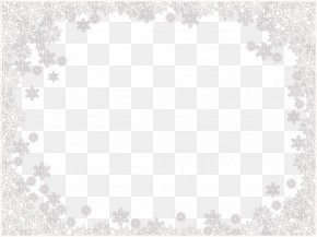 Snowflakes Border Frame Image - Lace Black And White Pattern PNG