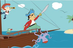 Cartoon Pirate Cliparts - Piracy Cartoon Clip Art PNG