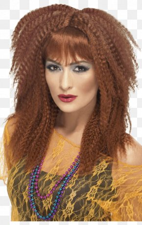 Dress - 1980s Wig Costume Fashion Ponytail PNG