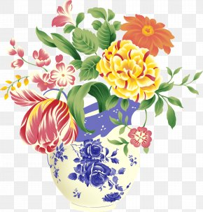Herbaceous Plant Wildflower - Bouquet Of Flowers Drawing PNG