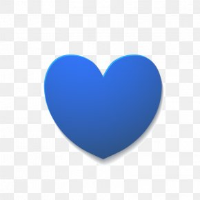 Blue Heart-shaped - Blue Heart PNG