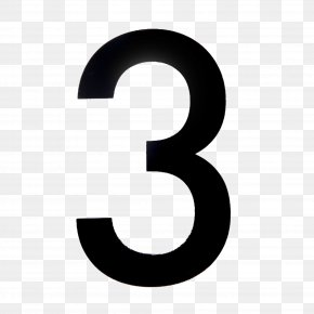 Three Number - House Numbering Numerical Digit Image Numeral System PNG