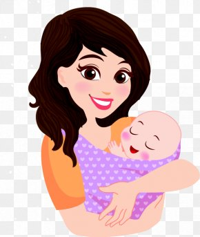 Black Painted Pattern Baby Mama - Mother Infant Cartoon Child PNG