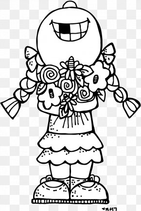 The Little Monkey Scatters Flowers - Drawing Coloring Book Clip Art PNG