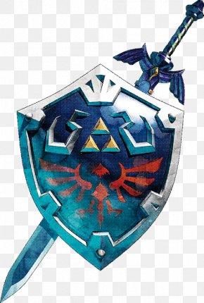 Sword And Shield - The Legend Of Zelda: Skyward Sword The Legend Of Zelda: Ocarina Of Time The Legend Of Zelda: Twilight Princess Hyrule Warriors Link PNG
