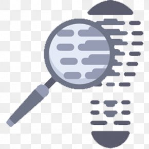 Search For Footprints - Magnifying Glass Footprint Icon PNG