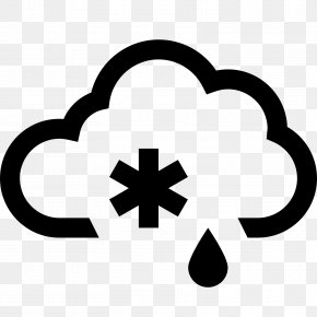 Weather - Rain And Snow Mixed Weather Symbol Clip Art PNG