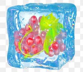 Cartoon Hand Painted Frozen Purple Grape - Grape Purple Google Images PNG