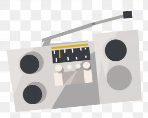 Vector Vintage Tape Recorder Material - Tape Recorder Radio PNG