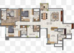Floor Lawn - Floor Plan Auris Serenity Apartment Square Foot Real Estate PNG