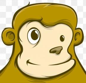 Cartoon Monkey Face Closeup - Monkey Cartoon PNG