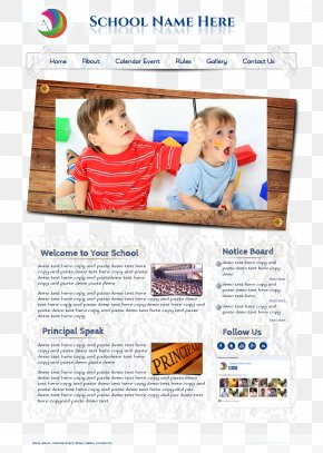 Home Page Layout Simple Wooden Style - Page Layout Poster Download PNG