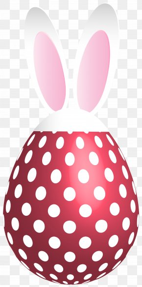 Easter Dotted Bunny Egg Red Transparent Clip Art - Polka Dot Stock Photography Clip Art PNG