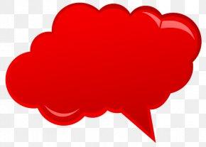 Talking Cloud - Speech Balloon Text Clip Art PNG