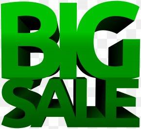 Big Sale Green Clip Art Image PNG