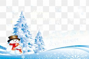 Winter Background Material - Santa Claus Christmas New Year Snowman Poster PNG