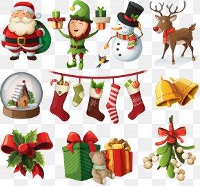 Christmas Elements - Santa Claus Christmas Ornament Christmas Tree PNG
