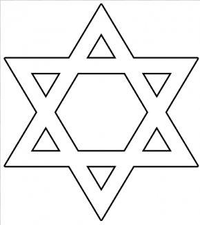 Star Template Large - Star Of David Judaism Symbol Clip Art PNG