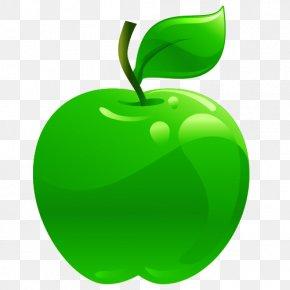 Cartoon Apples - Granny Smith Apple Cartoon PNG
