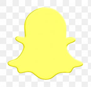 Yellow Social Media Icon - Media Icon Network Icon Snap Chat Icon PNG