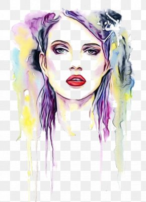 Drawing Lip - Watercolor Drawing PNG