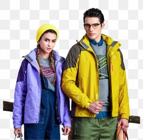 Couple Jackets Clothing - Hoodie T-shirt Jacket Clothing Hiking Apparel PNG