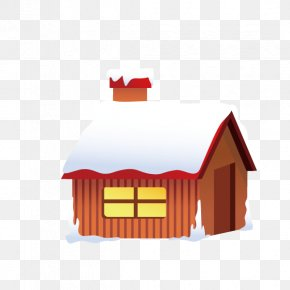 Christmas,snow House,winter - Snow Winter Cartoon Christmas PNG