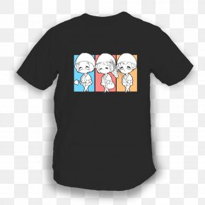T-shirt - T-shirt Black Pocket Sleeve Child PNG
