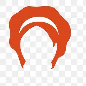 Orange Vintage Mature Female Wig - Wig Orange Woman PNG