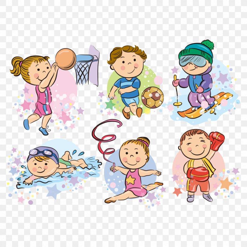 Cartoon Sport Clip Art, PNG, 1000x1000px, Sport, Area, Art, Cartoon, Child Download Free