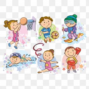 Vector Sport Kids - Cartoon Sport Clip Art PNG