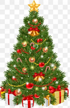 Green Christmas Tree - Christmas Tree Christmas Ornament Clip Art PNG
