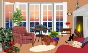 Room - Living Room Interior Design Services Clip Art PNG