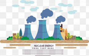 New Energy Materials - Nuclear Power Power Station Factory Industry PNG