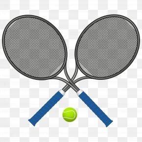 Cross Tennis Racket - Tennis Racket Clip Art PNG