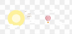 Seagull Vector Hot Air Balloon - Logo Brand Font PNG