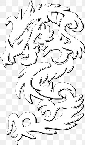 Dragon Images Black And White - Visual Arts Drawing Line Art Clip Art PNG